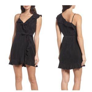 Bardot Milly One Shoulder Wrap Dress black